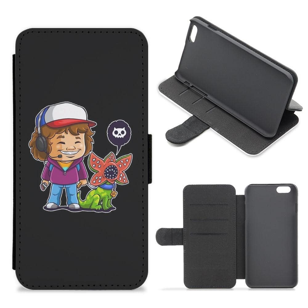 Dustin and The Demogorgon - Stranger Things Flip / Wallet Phone Case - Fun Cases