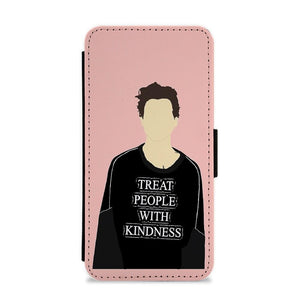 Pink Harry Styles Faceless Cartoon Flip / Wallet Phone Case - Fun Cases