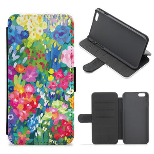 Colourful Floral Pattern Flip / Wallet Phone Case - Fun Cases