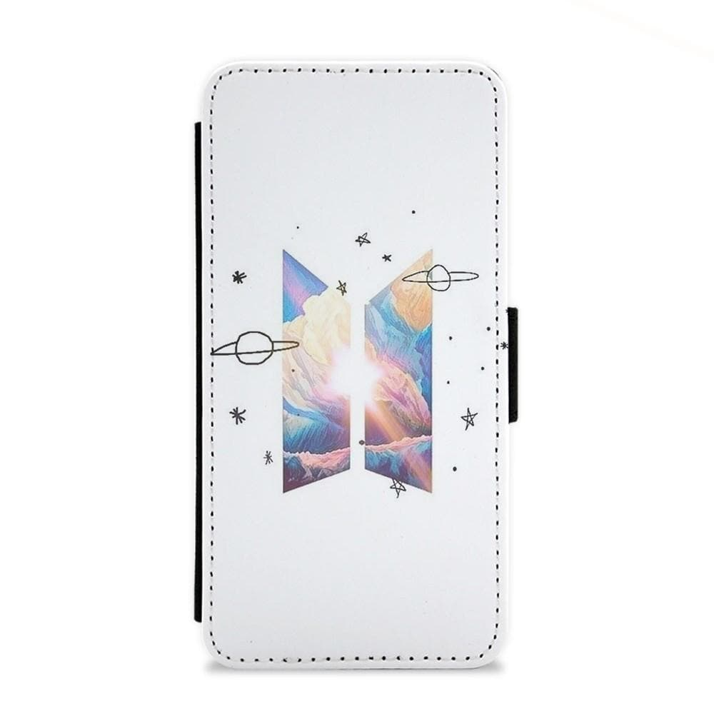 Space BTS Logo Flip Wallet Phone Case - Fun Cases