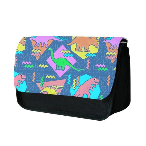 Nineties Dinosaurs Pattern Pencil Case - Fun Cases
