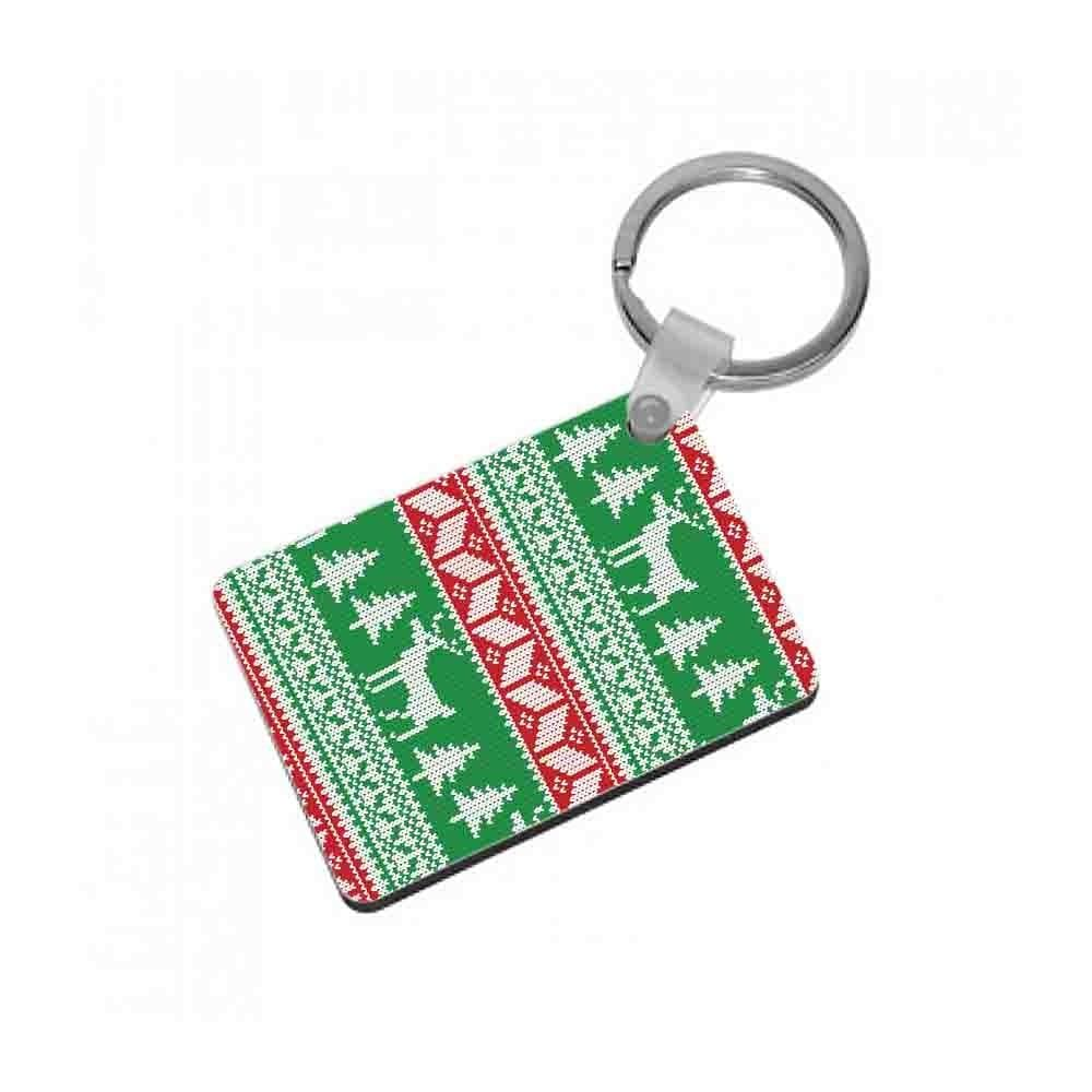 Christmas Jumper Pattern Christmas Keyring - Fun Cases