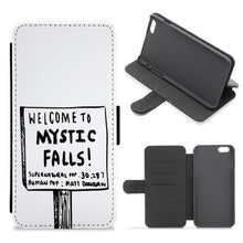 Welcome to Mystic Falls - Vampire Diaries Flip / Wallet Phone Case - Fun Cases