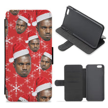 Christmas Kanye Flip Wallet Phone Case