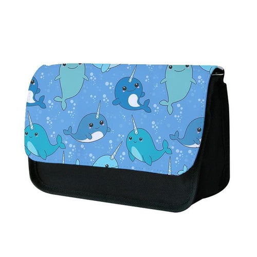 Narwhal Pattern Pencil Case - Fun Cases