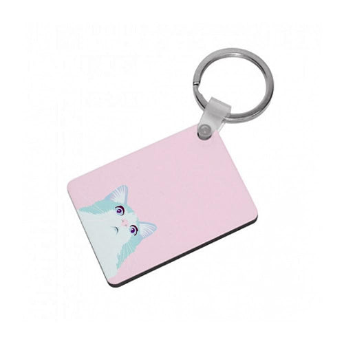 Curious Cat Keyring - Fun Cases