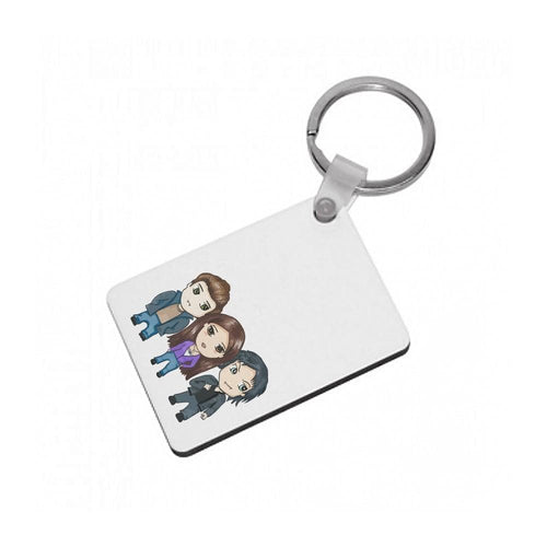 Vampire Diaries Cartoon Keyring - Fun Cases