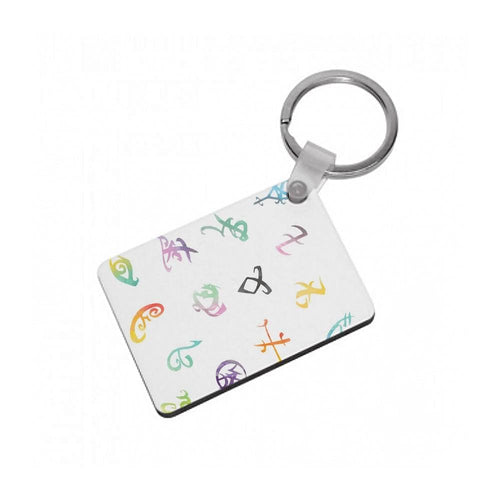 Watercolour Runes - Shadowhunters Keyring - Fun Cases