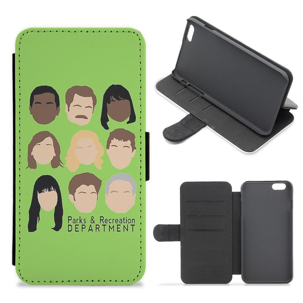 Parks and Recreation Team Flip Wallet Phone Case - Fun Cases