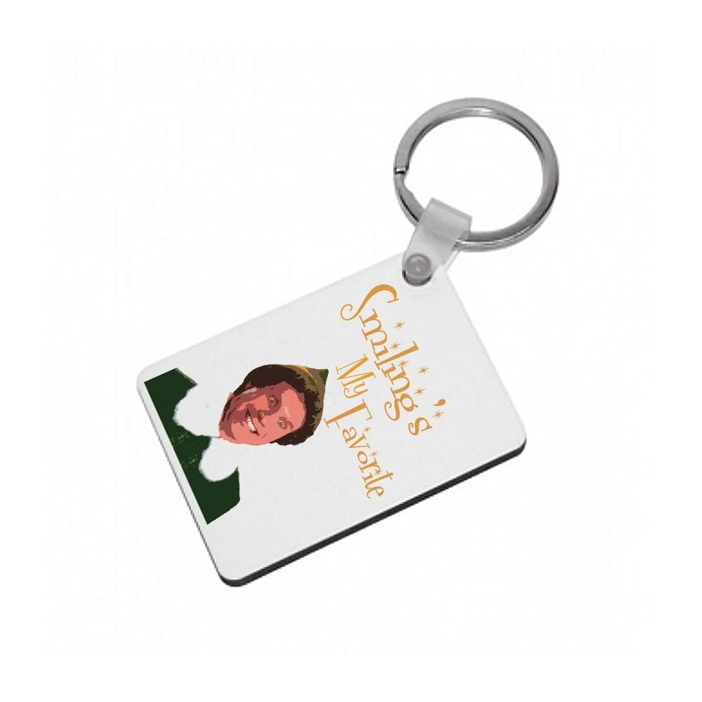 Smiling's My Favourite - Buddy The Elf Keyring - Fun Cases