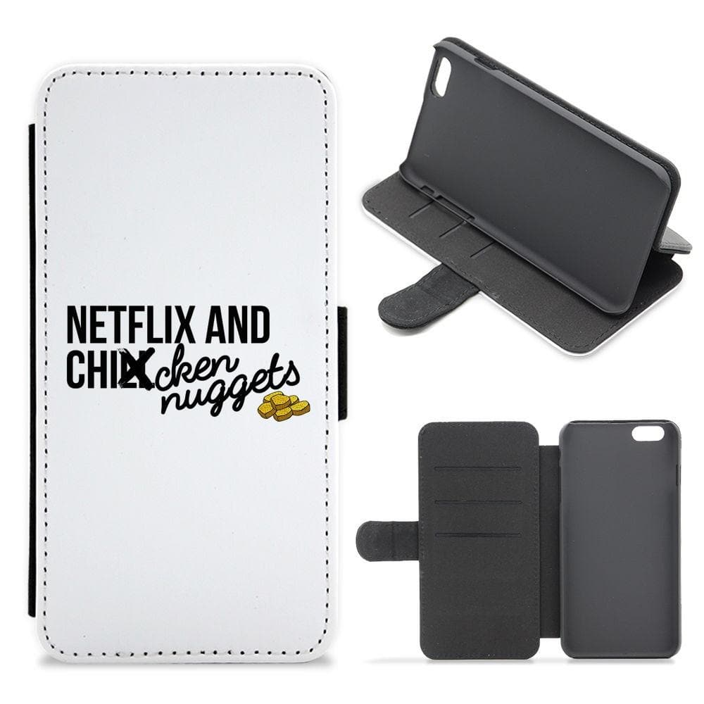 Netflix and Chicken Nuggets Flip / Wallet Phone Case - Fun Cases