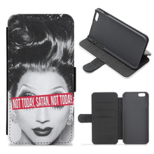 Not Today, Satan. Not Today - RuPaul's Drag Race Flip Wallet Phone Case - Fun Cases