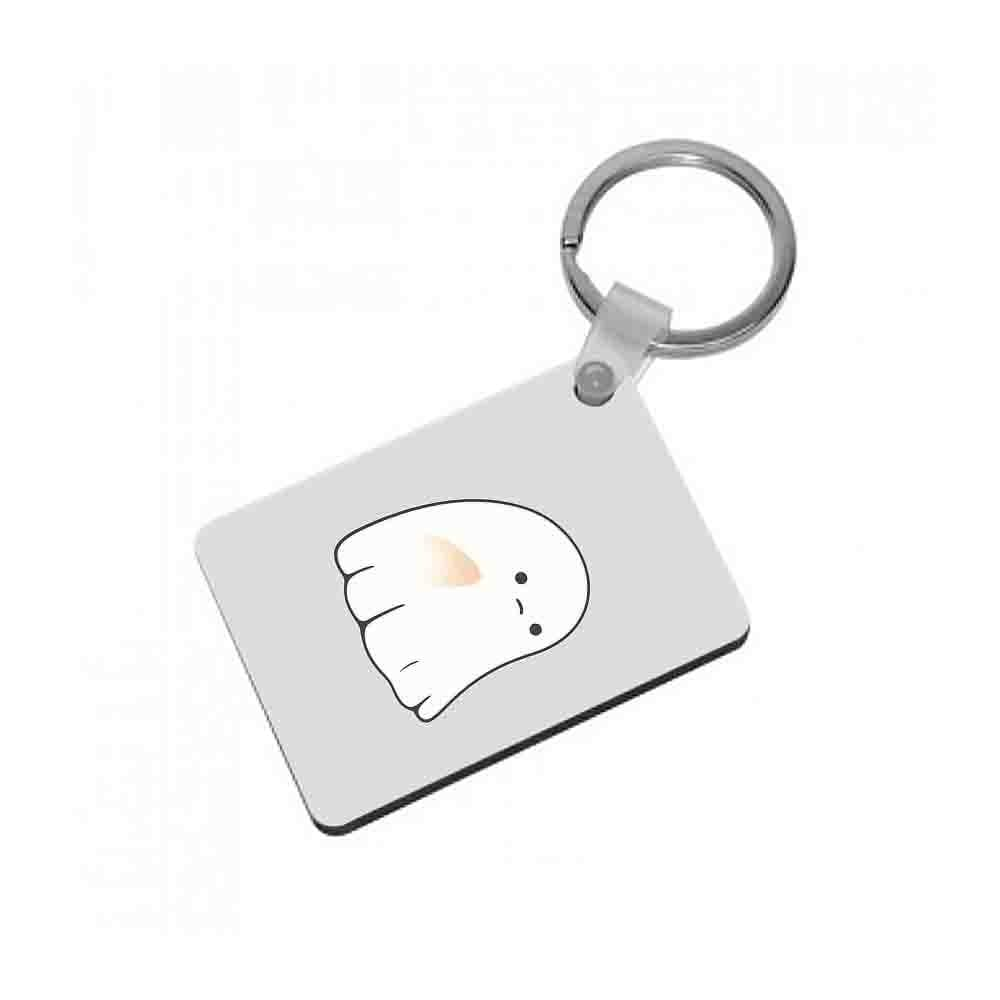 Sad Ghost Halloween Keyring - Fun Cases