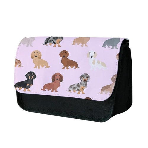 Dachshund Breed Pattern Pencil Case - Fun Cases