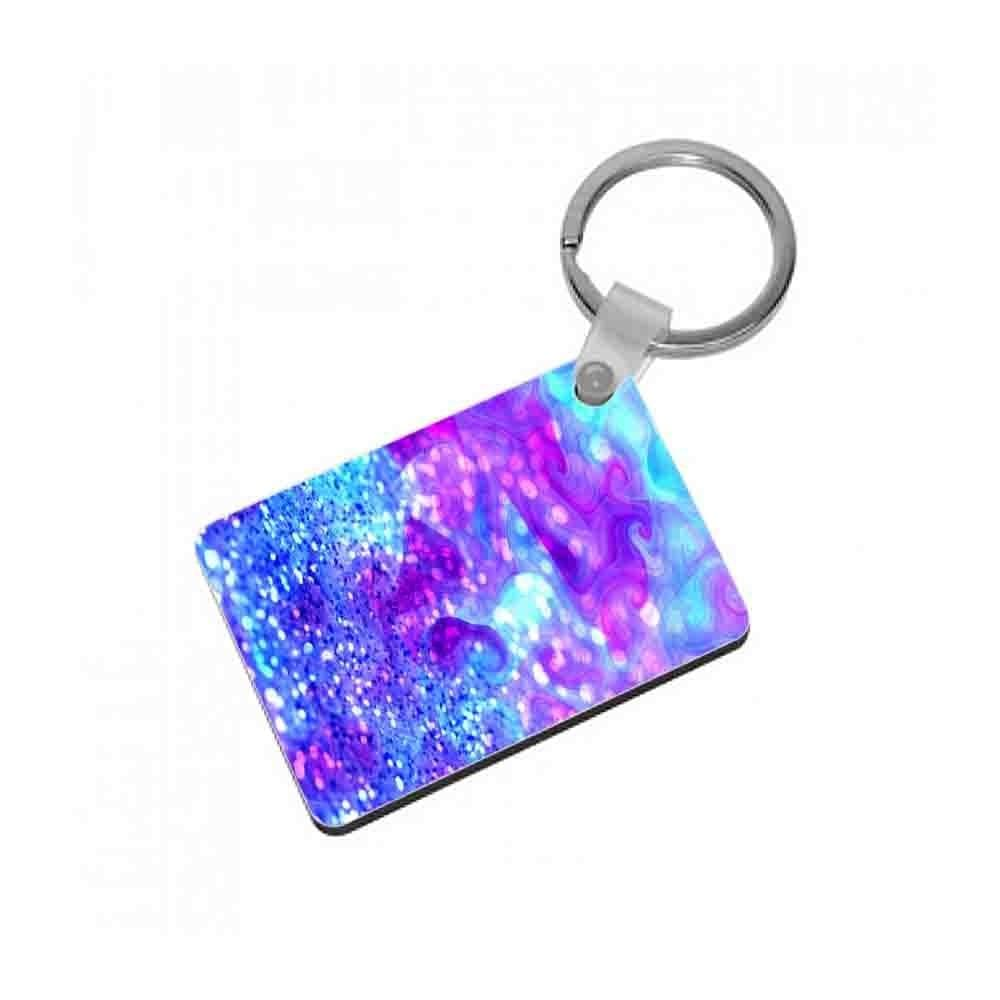 Glitter Swirl, Tumblr Stlye Keyring - Fun Cases