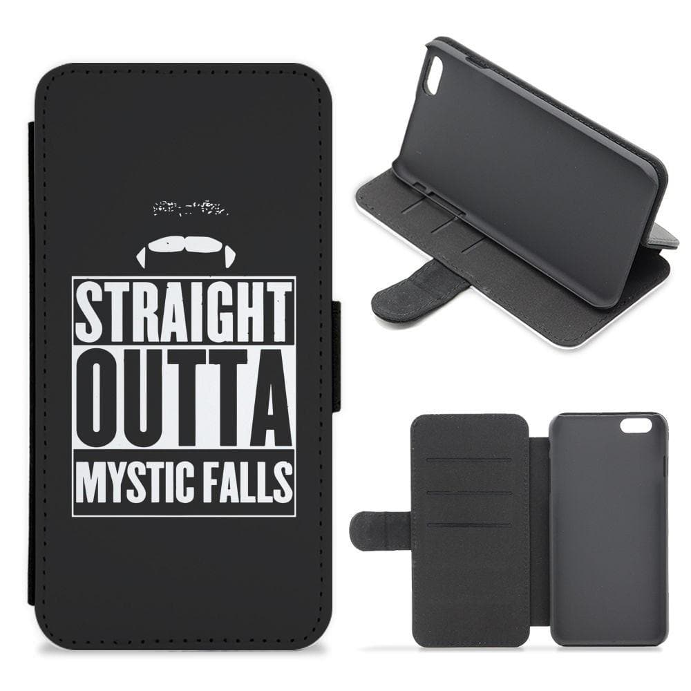 Straight Outta Mystic Falls - Vampire Diaries Flip / Wallet Phone Case - Fun Cases