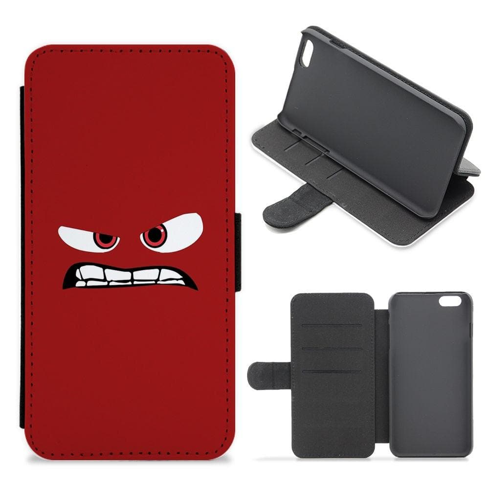 Anger - Inside Out Flip / Wallet Phone Case - Fun Cases