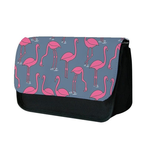 Basic Pink Flamingo Pattern Pencil Case - Fun Cases