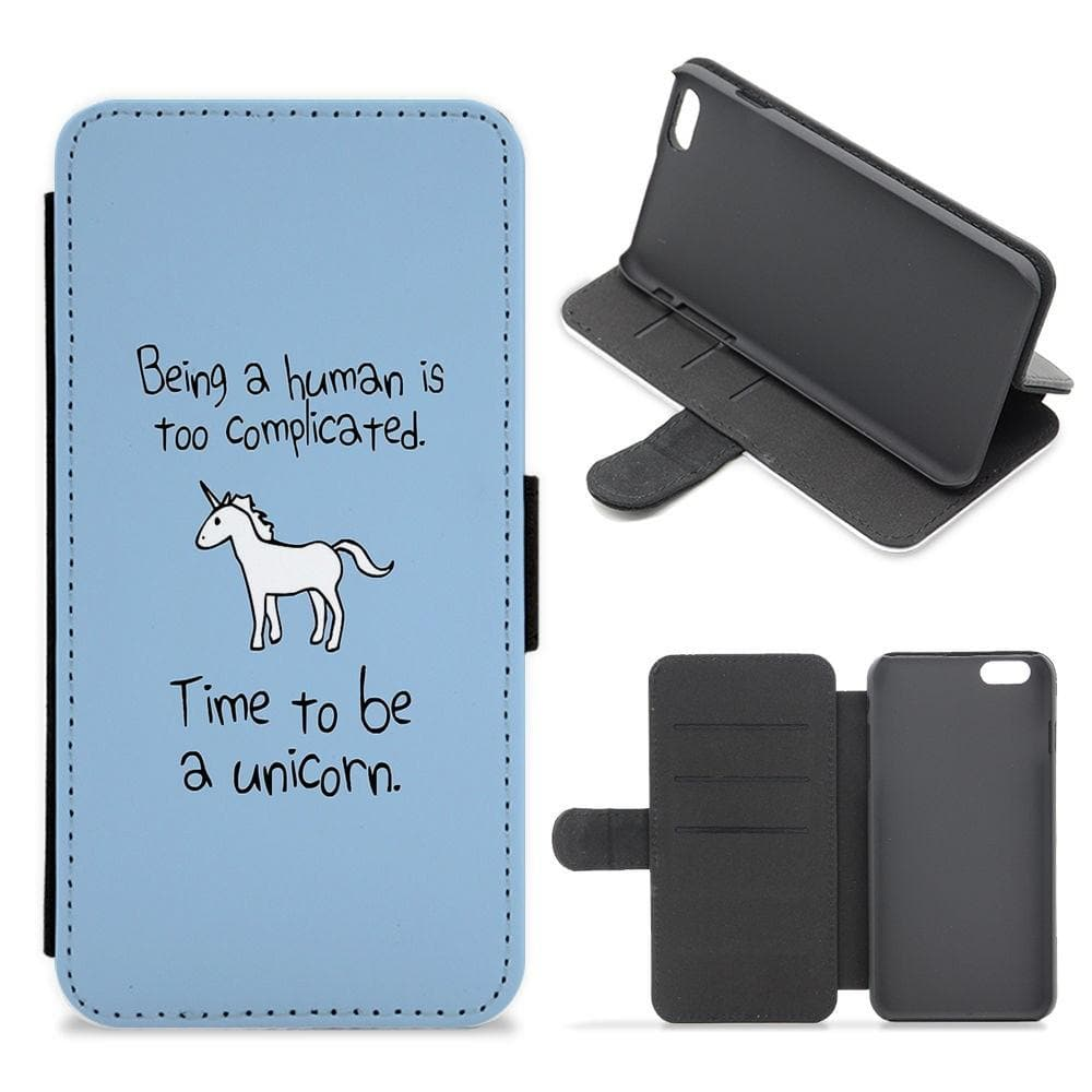 Time To Be A Unicorn Flip / Wallet Phone Case - Fun Cases