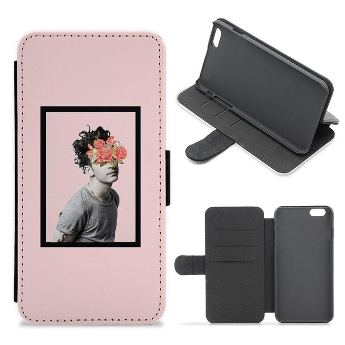 Matt - The 1975 Flower Cencored Flip / Wallet Phone Case - Fun Cases