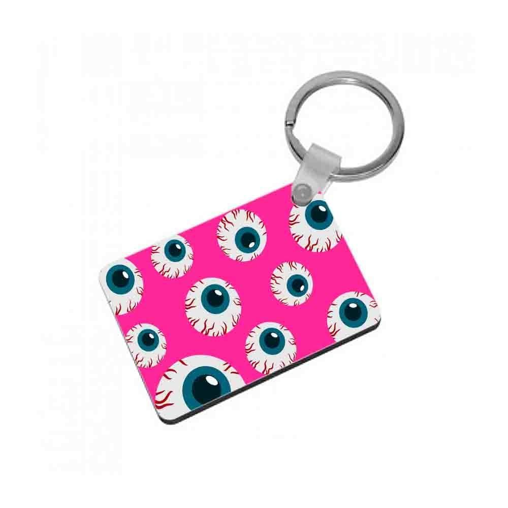 Spooky Eye Pattern Keyring - Fun Cases