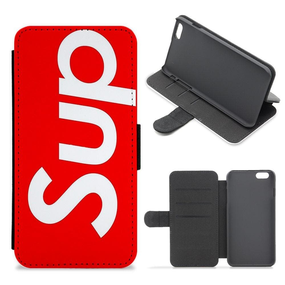 Sup - Supreme Logo Flip / Wallet Phone Case - Fun Cases