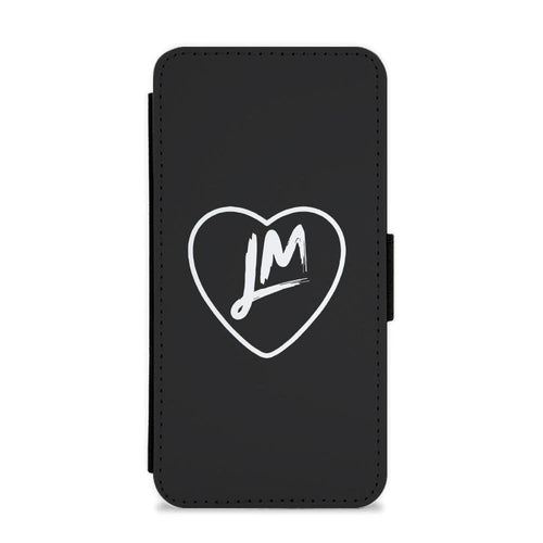 Little Mix Heart Flip / Wallet Phone Case - Black - Fun Cases