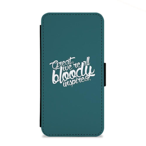 Great, We're All Bloody Inspired - Maze Runner Flip Wallet Phone Case - Fun Cases