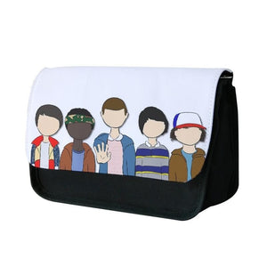 Stranger Things Cartoon Characters Pencil Case - Fun Cases