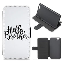 Hello Brother - Vampire Diaries Flip / Wallet Phone Case - Fun Cases