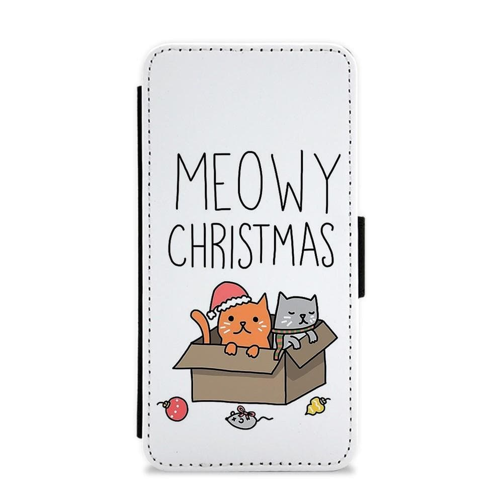 Meowy Christmas Flip / Wallet Phone Case - Fun Cases