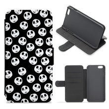 Jack Skellington Pattern - Nightmare Before Christmas Flip / Wallet Phone Case - Fun Cases