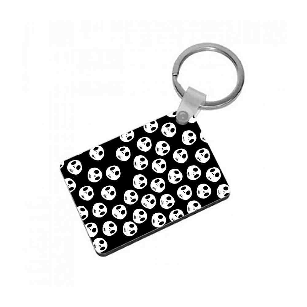 Jack Skellington Pattern - Nightmare Before Christmas Keyring - Fun Cases