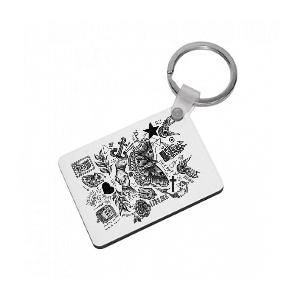 Harry Style's Tattoos Keyring - Fun Cases