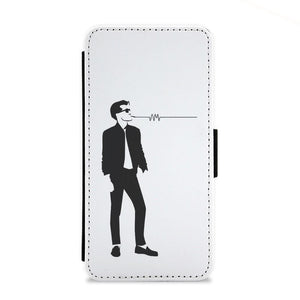 Artctic Monkeys Silhouette Flip Wallet Phone Case - Fun Cases
