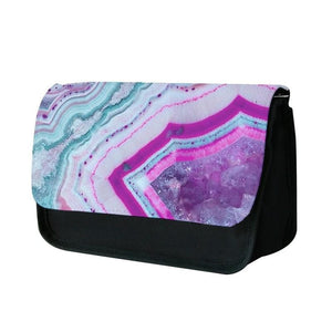 Purple Geode Pattern Pencil Case - Fun Cases