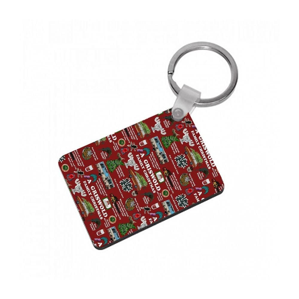 Christmas Holiday Collage Keyring