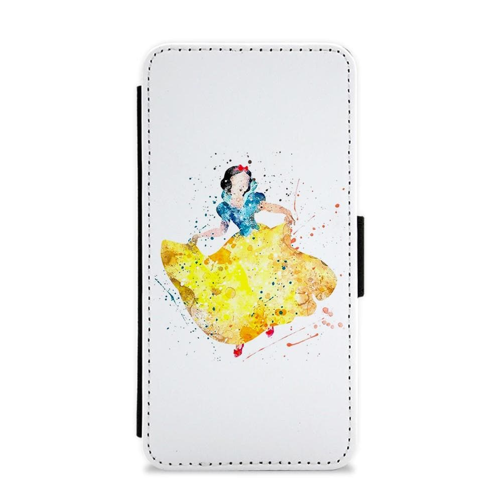 Watercolour Snow White Disney Flip / Wallet Phone Case - Fun Cases