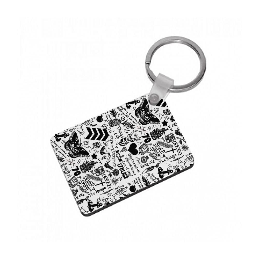 One Direction Tattoos Keyring - Fun Cases