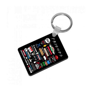 All The Quotes - Friends Keyring - Fun Cases