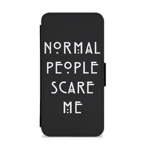 Normal People Scare Me - Black American Horror Story Flip / Wallet Phone Case - Fun Cases