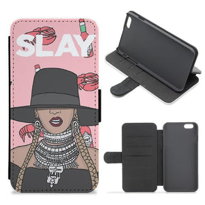 Slay - Beyonce Cartoon Flip Wallet Phone Case - Fun Cases