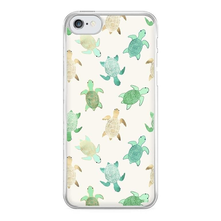 finest selection d25f4 bc881 Gilded Jade & Mint Turtles Phone Case