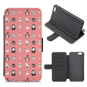 Nightmare Before Christmas Pattern Flip / Wallet Phone Case - Fun Cases