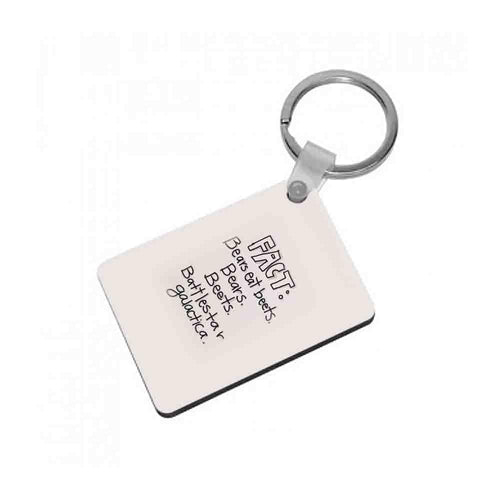 Fact - Bears Eat Beets - Bears, Beets, Battlestar Galactica Keyring - Fun Cases