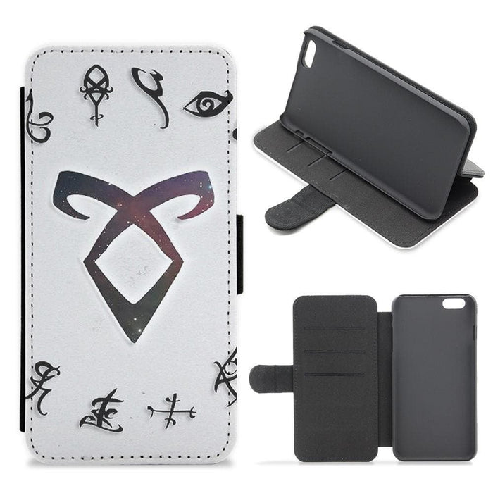 Shadowhunters Rune Logo Flip Wallet Phone Case - Fun Cases