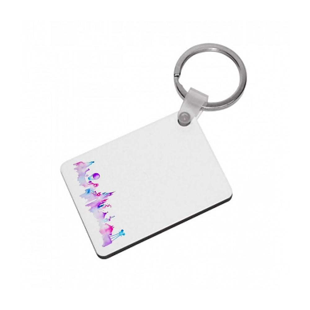 Watercolour Disneyland Paris Keyring - Fun Cases