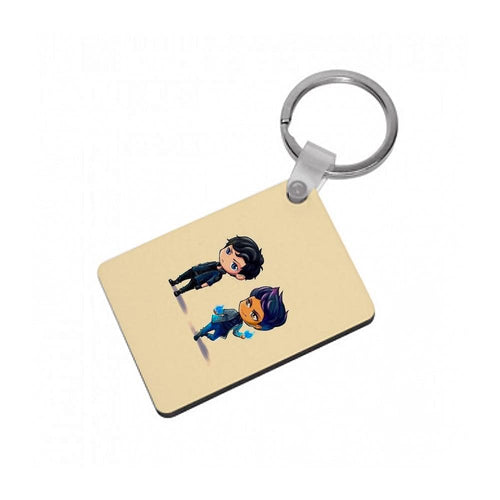 Malec Cartoons - Shadowhunters Keyring - Fun Cases