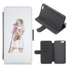 Miley Cyrus Sketch Flip Wallet Phone Case - Fun Cases