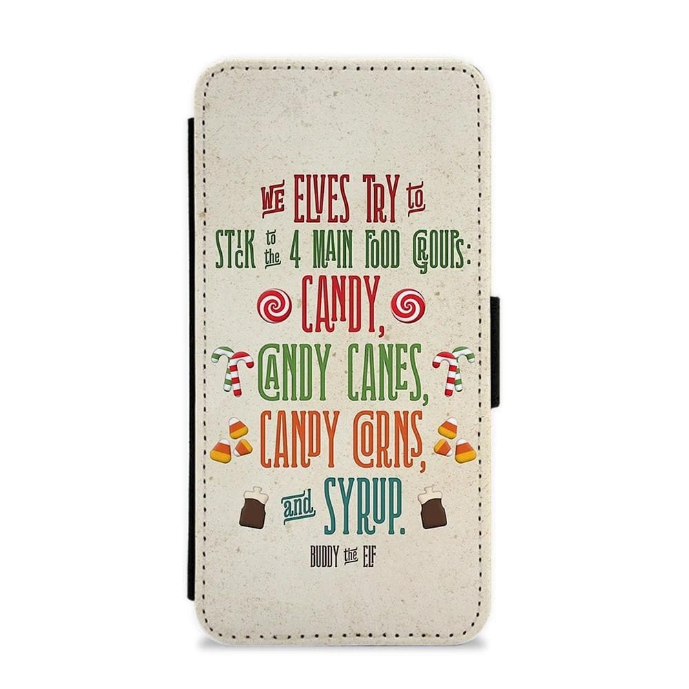 The Four Main Food Groups - Buddy The Elf Flip / Wallet Phone Case - Fun Cases